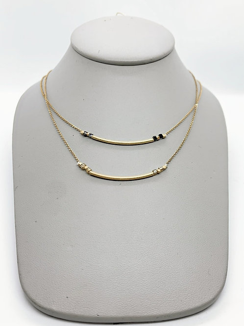 Simple Swoop Accent Necklace