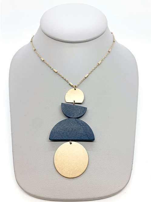 Meet In The Middle (Blue) Necklace