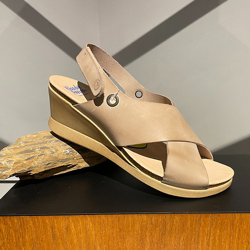 Cream Leather Sandal