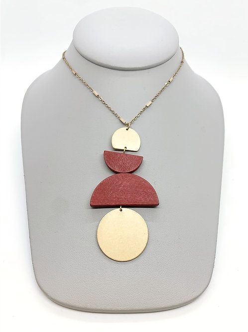 Meet Me In The Middle (Red) Necklace