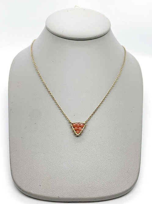 Triangle Of Peaches Necklace