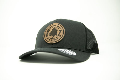 Cypress Bend Farms Leather Patch Hat (Gray/Black)