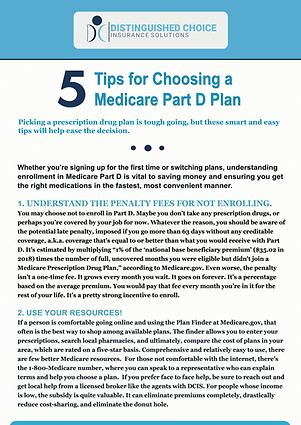DCIS 5 Tips for Choosing a Part D Plan-1