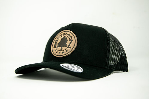 Cypress Farms Leather Patch Cap (Black)