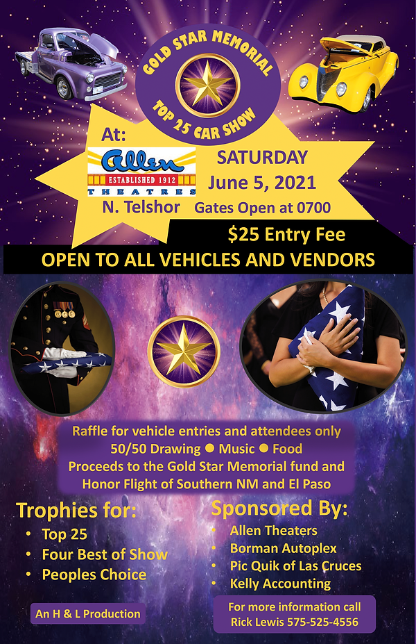 2021-06-05 Gold Star Car Show Poster (11