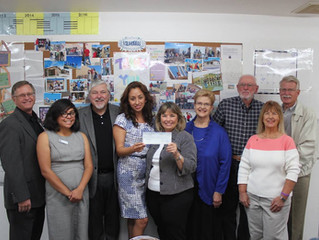 The Rio Grande Rotary Club of Las Cruces gives $6,000 to Mesilla Valley Habitat for Humanity to Furn