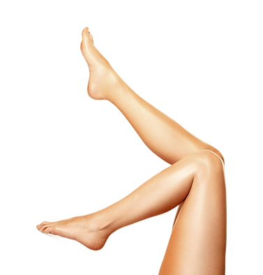 Woman's legs in the air
