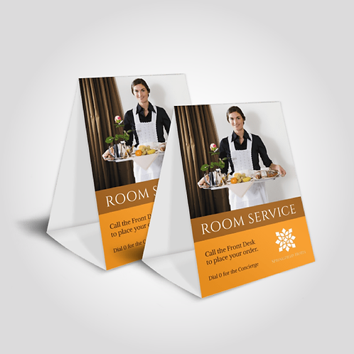 """5""""X7"""" TABLE TENT CARDS"""