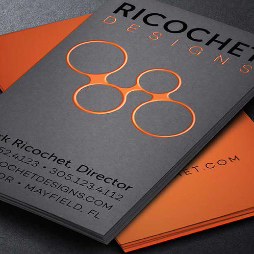 LUXURY BUSINESS CARDS with RAISED SPOT UV (19 PT.)