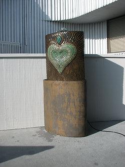 Bronze/Green Ecstatic Heart