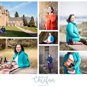 Aberdeen Personal Brand Photographer with Jacqueline from Grampian Escapes and Tours Guide