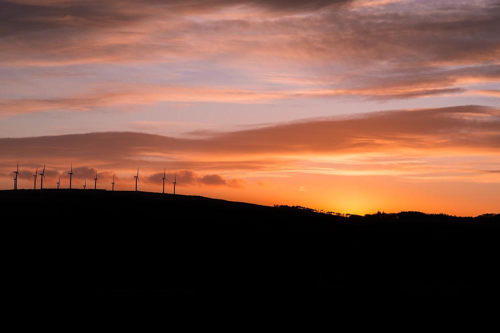 Best-aberdeen-family-children-photographer-montrose-arbroath-aberdeenshire-natural-light-sunset-mearns-red-sky-windfarm-silhouette
