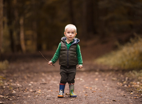 Fifty Shades of Fall: Wandering the Dunnottar Woods of Stonehaven | Aberdeen Family Photographer