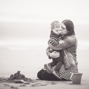 Family Photo Session at St Cyrus Beach Near Montrose | Aberdeen Aberdeenshire Family Photographer
