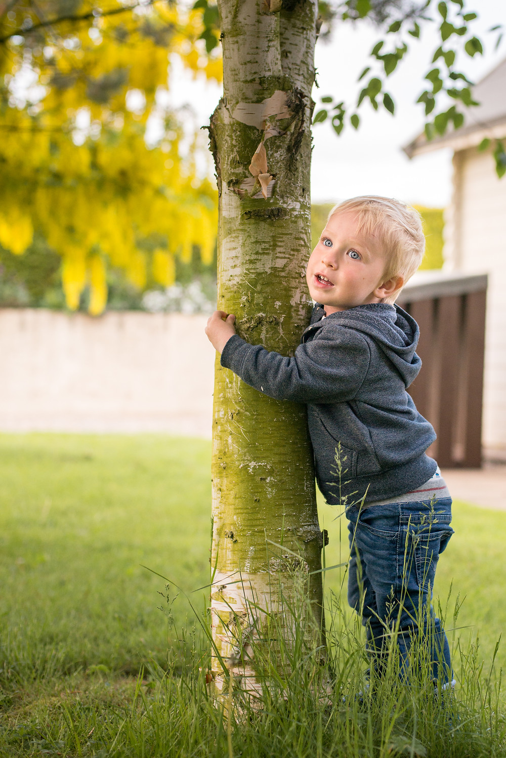 tree hugger, stay wild, child in the garden hugging a tree, 30dayswild