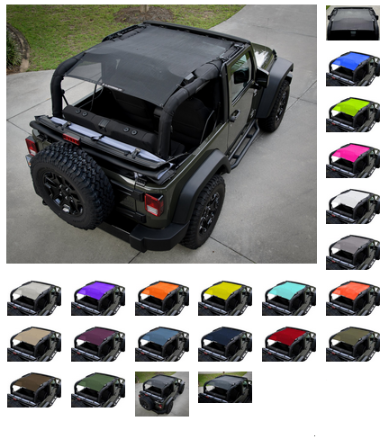 03e6f14149a PROTECT YOUR PASSENGERS and your Jeep interior from harmful UV sun rays,  without giving up that open-air / top-down feeling. Durable woven PVC mesh  cuts ...