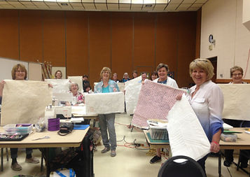 Badlands quilt group free motion class w