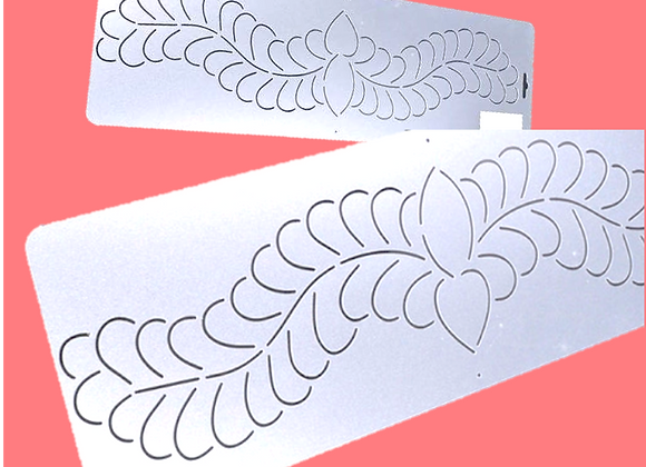 Feather Swag Border Learning Practice Stencil