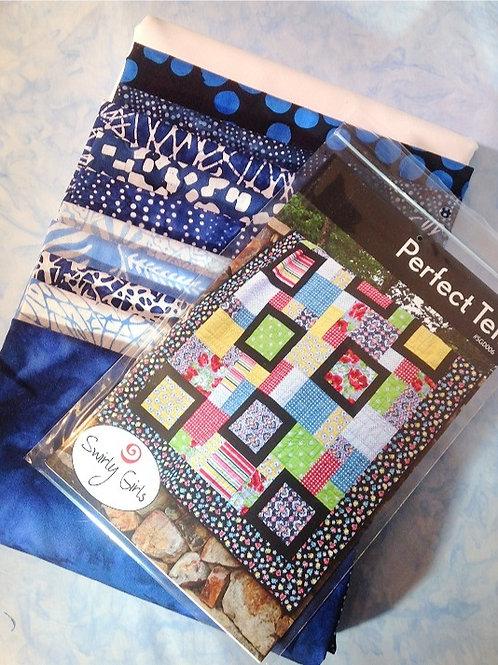 Blue and White Indigo Batik Kit with Perfect Ten Pattern