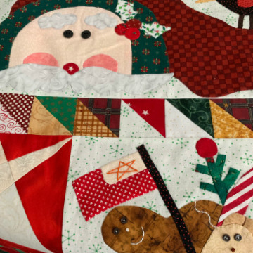 Applique and Embellished Christmas Quilt