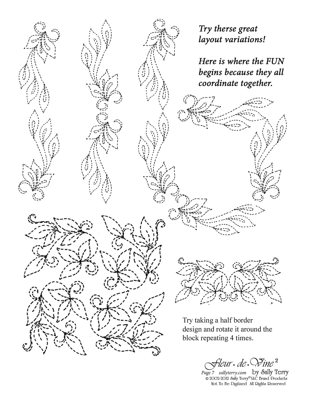 Fleur de Vine Pattern Pack Page 7 with Sally Terry