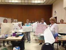 Machine Quilting Class Retreat with Sall