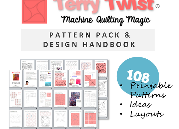 Terry Twist 130+ INSTRUCTIONS for Machine Quilting Patterns and Layouts Guide CD