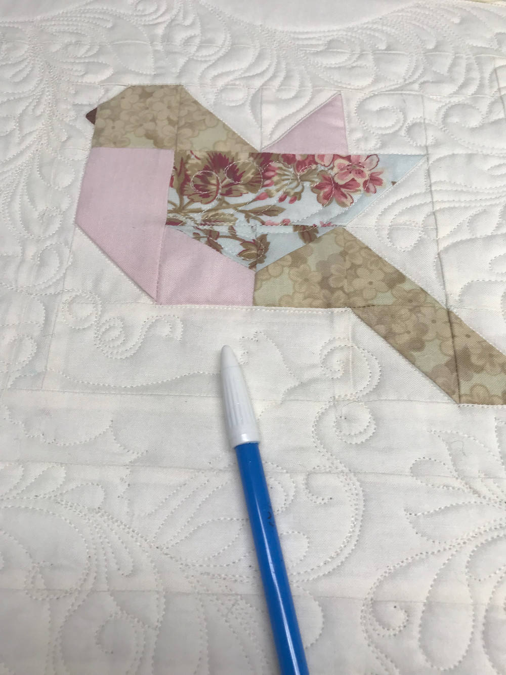 Marking Free Motion Machine Quilting of Feathers by Sally Terry