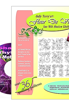 Fleur de Vine Printed Pattern Pk with How To Video DVD