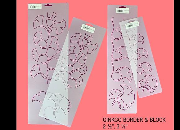 Ginkgo Quilting Stencils - Set of 4