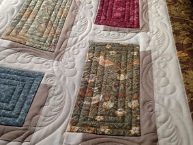 Floating Rectangles Machine Quilted by S