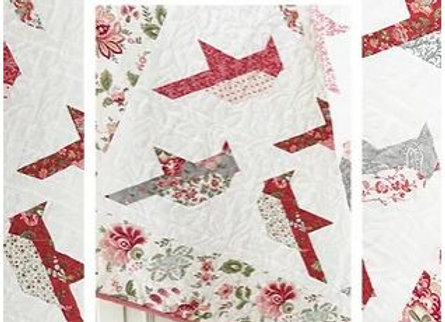 Cardinals Quilt Pattern by The Pattern Basket