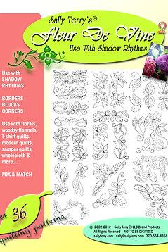 Fleur de Vine Shadow Rhythm Leaves 36+ Patterns Pack Download