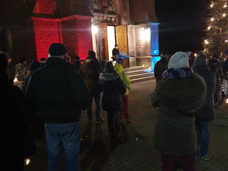 """Impression """"Stunde der Lichter"""" an der St. ALEXANDER Kirche Daseburg!"""