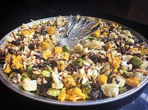 Roasted Brussels Sprouts + Cauliflower w