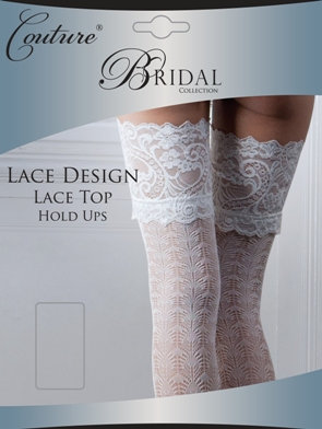 Lace Design Lace Top Hold Ups