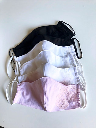 Womens cotton facemask with cotton lining