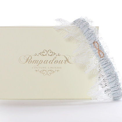 'Love' Bridal Garter - ice blue