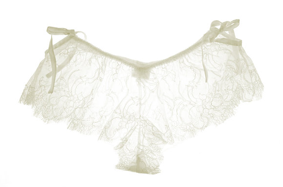 Chantilly Lace French Knicker ivory