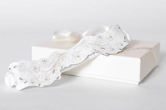 'Floral' leather garter