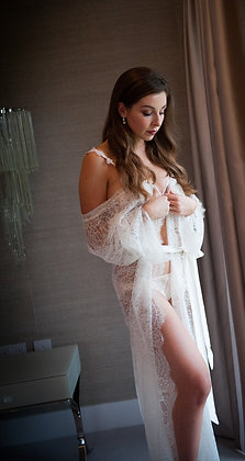 Eloise Long Chantilly Lace Robe - various colours