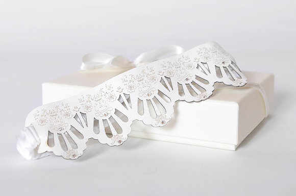 'Lace' leather garter