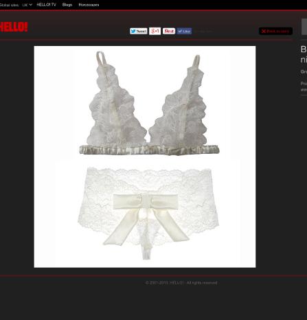 Pompadour Lingerie in Hello Magazines Top 10 Bridal Lingerie picks