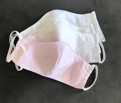 Womens cotton facemask with silk lining