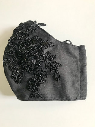 *NEW Luxury hand-beaded facemask