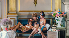 Marie Antoinette style shoot for Bouffe Hair products