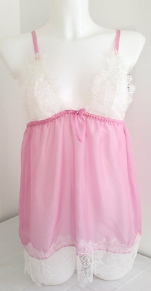 Grace Silk Negligee Pink Size Small