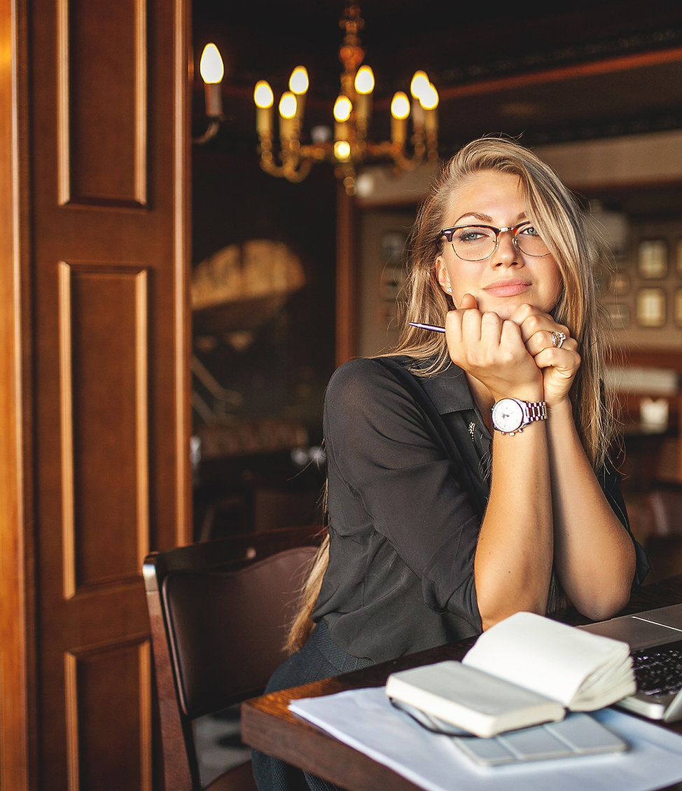 Woman with work life balance and success