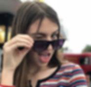 Teenage girl winking