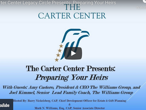 The Carter Center Speaking Event Preparing Your Heirs with Amy Castoro